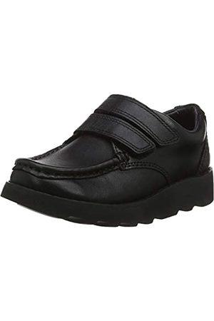 Clarks Jungen Crown Tate Derbys, (Black Leather)