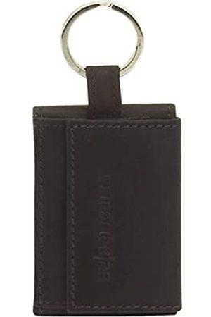 Friedrich23 Mini-Geldbeutel mit Schlüsselring, Nappa Leder, 8 x 5,2 x 1 cm