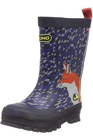 Viking Unisex-Kinder Big Fox Gummistiefel, (Navy/Multi 550)
