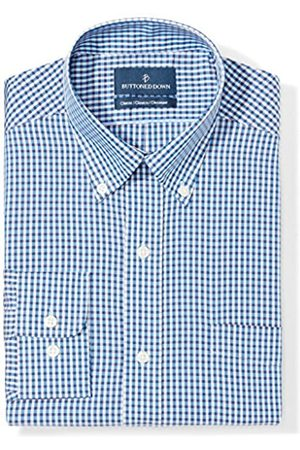 Buttoned Down Classic Fit Button Collar Pattern Smoking Hemd, blue/brown check