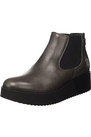 U.S. Polo Assn. Damen Sapphire Leather Chelsea Boots, (Dark Grey DKGR)