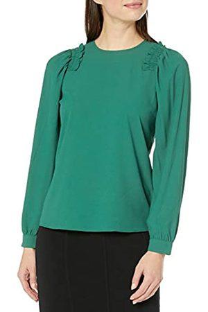 Lark & Ro Long Sleeve Smocking Detail Blouse dress-shirts