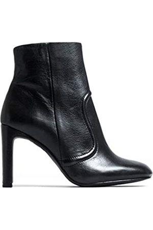 L'INTERVALLE Damen CIENEGA Black Leather Halblange Stiefel