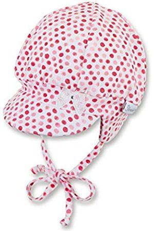 Sterntaler Ballonmütze für Mädchen mit Bindebändern, Ohrenklappen und Pünktchenmuster, Alter: 6-9 Monate, Größe: 45