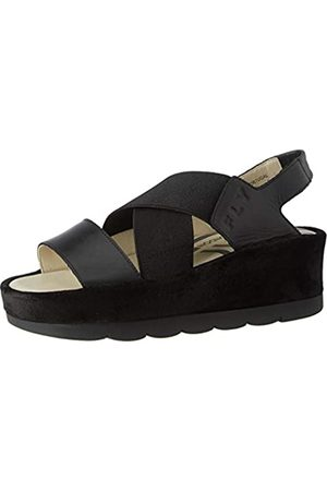 Fly London Damen Bime169fly Sandalen, (Black/Black 000)