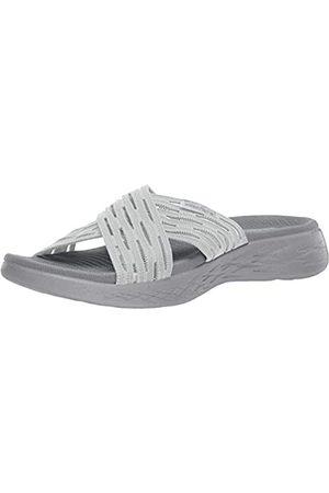 Skechers Damen Go Run 600-Sunrise Sandalen, (Grey Gry)