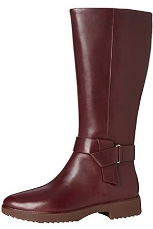 FitFlop Damen Knot Hohe Stiefel, (Lingonberry 744)
