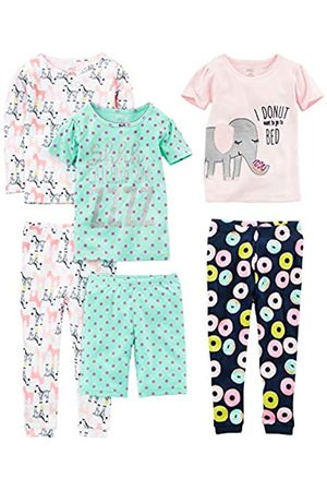 Simple Joys by Carter's Baby - Mädchen 6-piece Snug Fit Cotton Pajama Set mehrfarbig Donuts/Zebra/Dots 8 Years