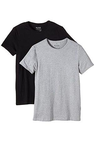 Blend Herren O-Neck T-Shirt, Mehrfarbig (Black/Stone Mix 70999)