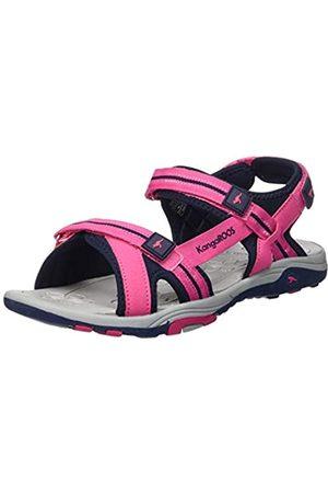 KangaROOS Unisex-Kinder K-Leni Sneaker, (Daisy Pink/Dk Navy 6130)