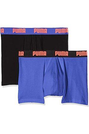 Puma Herren Basic Boxer 2P Badehose, (Blue/Black 004)