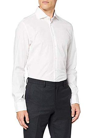 Seidensticker Herren Gepunktetes Hemd mit Kent-Kragen – Passform Slim Fit – Langarm – 100% Baumwolle Businesshemd