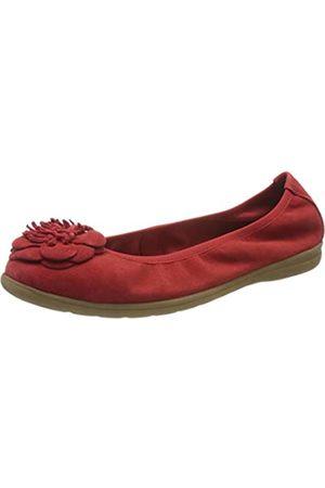 Jana 100% comfort Damen 8-8-22101-24 Geschlossene Ballerinas, (Red 500)