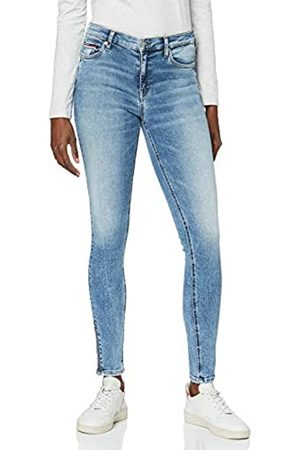 Tommy Hilfiger Damen MID Rise Skinny Nora 7/8 Zip ORL Straight Jeans