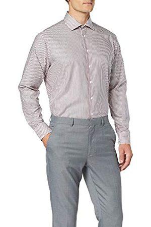 Seidensticker Herren Tailored Fit Langarm mit Kent-Kragen Bügelfrei Streifen-100% Baumwolle Businesshemd