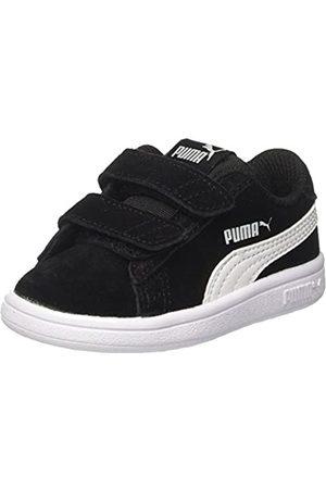 Puma Smash v2 SD V Inf, Unisex-Kinder Sneakers, ( Black- White)