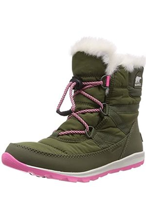 sorel Kinder Youth Whitney Short Lace Kurzer Schnürstiefel, (hiker green)/ (sea salt)