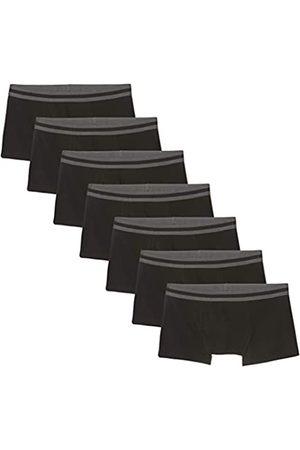 FIND Amazon-Marke: Herren Niedrige Shorts aus Baumwolle, 7er-Pack, L