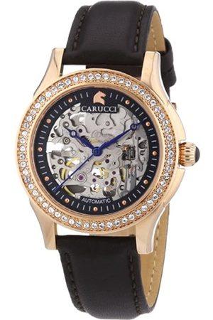 Carucci Watches Damen-Armbanduhr Analog Automatik Leder CA2212RG