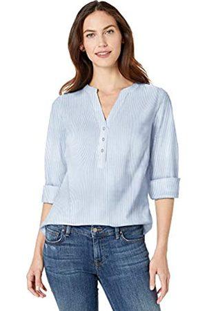 Amazon Damen-Langarm-Hemd zum Überziehen, aus Baumwolle