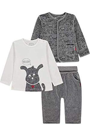 Kanz Unisex Baby 3tlg. Set (Jacke + T-Shirt 1/1 Arm + Jogginghose) Bekleidungsset 