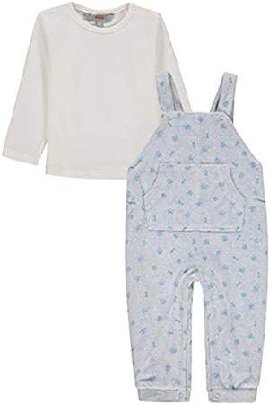 Kanz Baby-Jungen 2tlg. (Latzhose + T-Shirt 1/1 Arm) Anzug|
