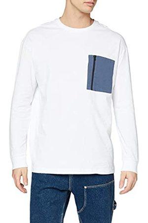 Urban classics Herren Longsleeve Boxy Big Contrast Pocket LS T-Shirt