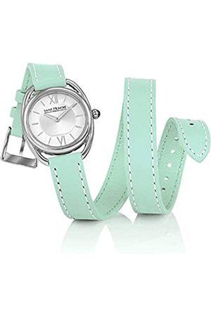 Saint Honore Saint-Honoré Quarzuhr für Damen Saphirglas Lederarmband Armbanduhr Made in France 7215261AIN-G