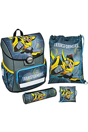 UNDERCOVER Scooli TFJK8371 - Schulranzen mit Schuhbeutel, Brustbeutel und Schlamperetui, leicht, ergonomisch, Transformers mit Bumblebee