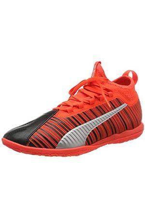 Puma Unisex-Erwachsene ONE 5.3 IT Futsalschuhe, Black-NRGY Red Aged Silver