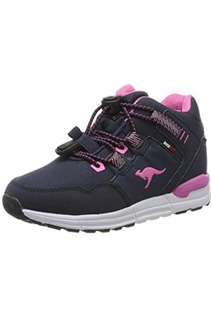 KangaROOS Unisex-Kinder Trabo KTX Hohe Sneaker, (Dk Navy/Magenta 4106)