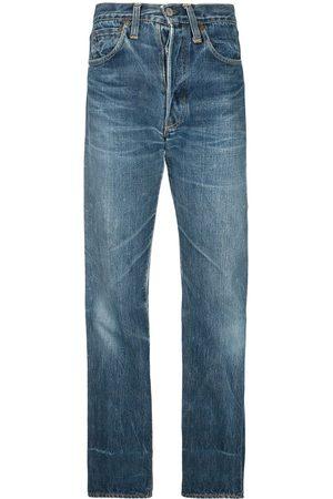 Fake Alpha Vintage 1940s Jeans mit geradem Bein