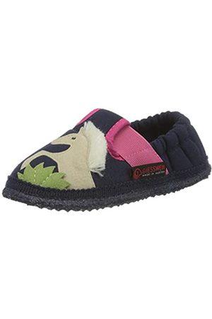 Giesswein Kinder Hausschuh Adelberg - Baumwoll Hausschuhe für Kinder, Lauflern Schuhe, Mädchen Slipper, bequme Schuhe für Zuhause