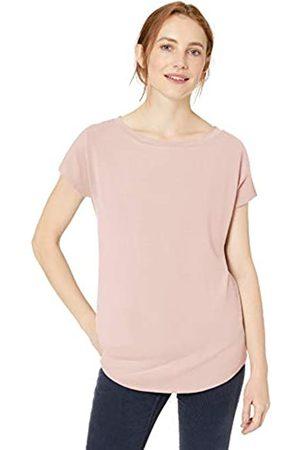 Daily Ritual Amazon-Marke: , bequemes Damen Langarm-Strickshirt mit Dolman-Ärmeln und U-Boot-Ausschnitt, Pink