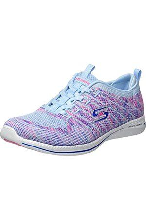 Skechers Damen City PRO - Busy ME Sneaker, Mehrfarbig (Light Blue/PINK LBPK)