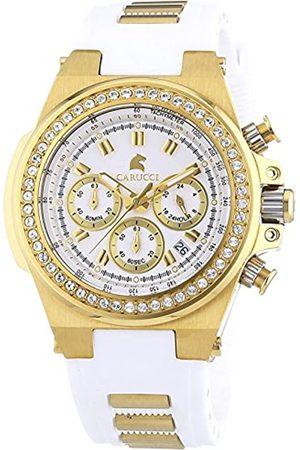 Carucci Watches Damen-Armbanduhr Analog Automatik Kautschuk CA2215WH-GD