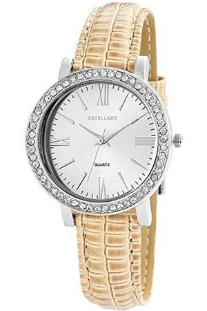 Excellanc Damen-Armbanduhr Analog Quarz Verschiedene Materialien 195622200013