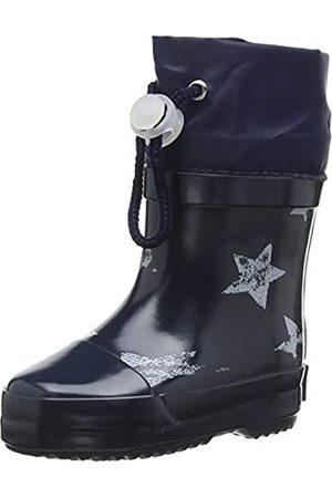 Playshoes Unisex-Kinder Short Wellies Warm Lining Stars Gummistiefel, (Marine 11)