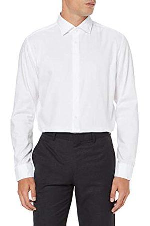 Seidensticker Herren Business Hemd - Einfarbiges Hemd mit einem hohen Tragekomfort und Kent-Kragen - Passform Slim Fit - Langarm - 100% Baumwolle