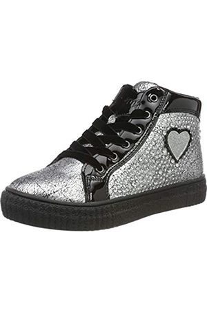 Primigi Mädchen PAA 44544 Hohe Sneaker, (Argento/Nero 4454422)