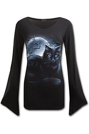 Spiral Damen Mystical Moonlight-V Neck Goth Sleeve Top Langarmshirt