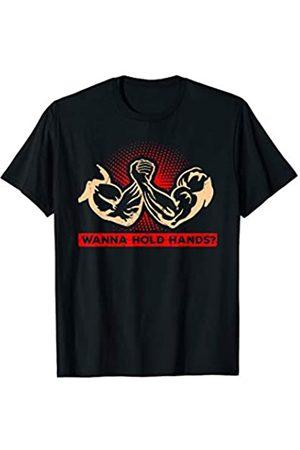 Kraftsport Männer Geschenke Armdrücken Lustiges Arm Drücken Sport Arm Wrestling Fitness T-Shirt