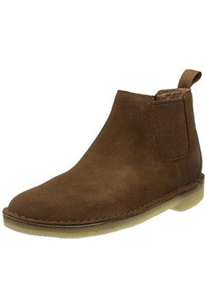 Clarks Herren Desert Chelsea Boots, (Cola Suede Cola Suede)