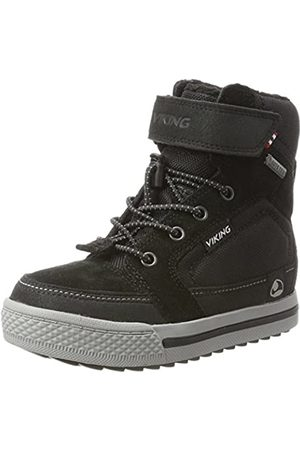 Viking Unisex-Kinder Zing Hohe Sneaker, (Black/Grey)