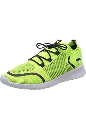KangaROOS Unisex-Erwachsene KF Weave Sneaker, (Lime/Steel Grey 7021)
