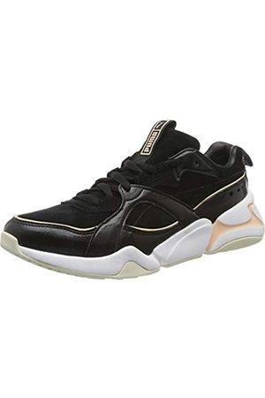Puma Damen Nova 2 Suede WN's' Sneaker, Black-Peach Parfait 01