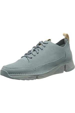 Clarks Damen Tri Spark. Sneaker, (Blue Nubuck Blue Nubuck)