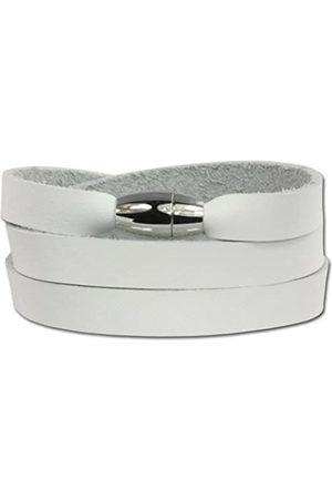 SilberDream Unisex-Armband zum Wickeln mit Magnetverschluß Leder VLAP561W