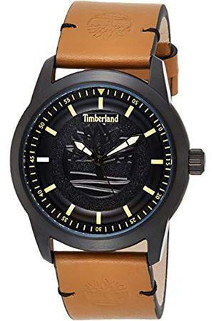 Timberland Herren Analog Quarz Uhr mit Leder Armband TBL15632JSB.02