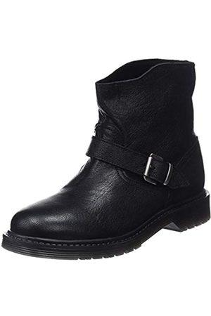 Mamatayoe Damen Sarah Biker Boots, (Black Real Leather 001)